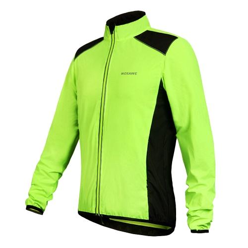 WOSAWE Cycling Jersey Riding Breathable Jacket Cycle Clothing Bike Long Sleeve Wind Coat Image