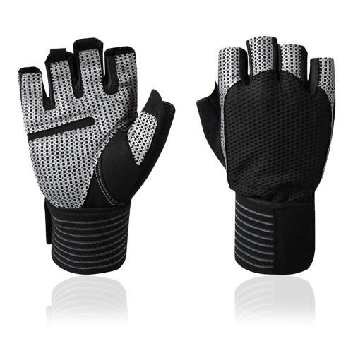 Перчатки для фитнеса с полной защитой запястий Спортивные перчатки на половину пальцев Дышащие перчатки с короткими пальцами Устойчивые к разрыву велосипедные перчатки