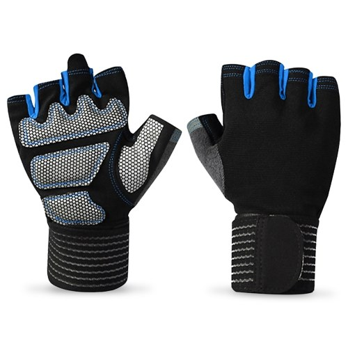 Short Finger Gloves Outdoor Sports Full Wrist Protection Gloves Half Finger Fitness Gloves Breathable Tear-resistant Gloves Cycling Gloves