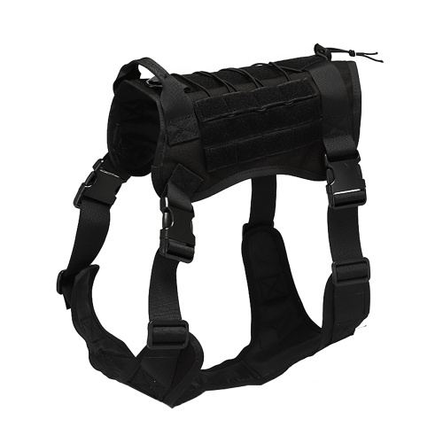 Dog Harness Waterproof Fabric Buckles Quick Fastening Tape Handle MOLLE System Training Outdoors Dog Vest