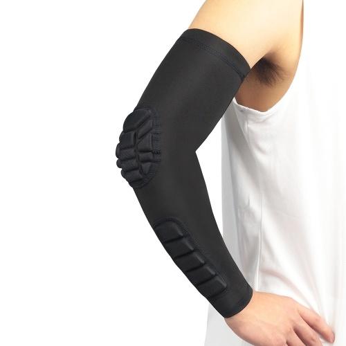2PCS Männer Frauen Kompression Arm Ärmel Ellbogenstütze Pad Atmungsaktive feuchtigkeitstransportierende Basketball Outdoor Arm Schutzunterstützung