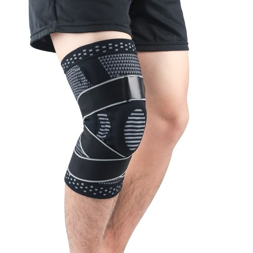 Pair of Knee Braces Support Protector Knee Pad Compression Sleeve Non-Slip for Men Women Hiking Soccer Basketball