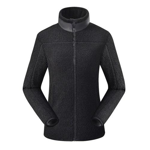 Jaquetas Sherpa Fuzzy Fleece Teddy Cardigan Bolsos Laterais Zipper Stand Gola Casaco para Homem Mulher Inverno