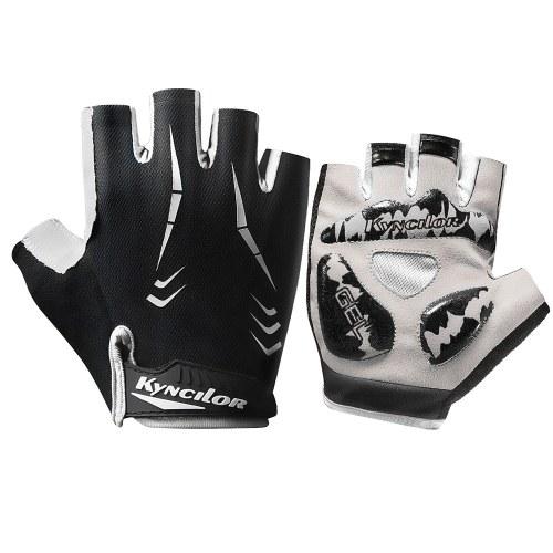 Велосипедные перчатки Полупальцевые нескользящие износостойкие Регулируемые дышащие спортивные перчатки для скалолазания на велосипеде