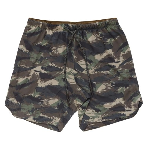 Men Shorts with Towel Loop Camouflage Elastic Waist Workout Running Yoga Short Pants Casual Summer
