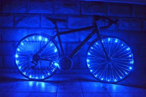 Wiederaufladbar Wasserdicht 20 LEDs Fahrrad Rad Radfahren Felge Lichter LED Radspeiche Licht 2m Lichterkette Lampe