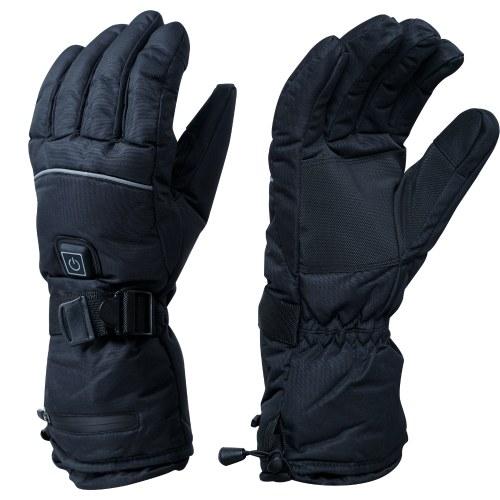 Winter Handwärmer Handschuhe Thermal Control Touchscreen Warm Fleece Wasserdichte rutschfeste Outdoor-Skifahren Radfahren beheizte Handschuhe