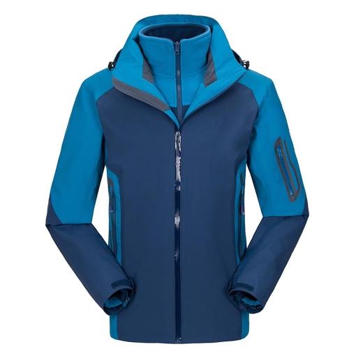 メンズ3 in 1ジャケット サーマルフリースジャケット アウトドアスポーツ/キャンプ/登山/スキーのために適用