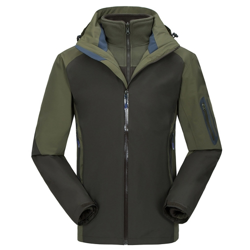 Men's 3 in 1 Jacket Thermal Fleece Jacket Outdoor Sports Camping Mountaineering Skiing