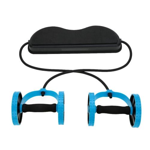Спорт Core двойной AB роликовые AB колесо фитнес брюшной упражнения оборудования живота талии для похудения оборудование
