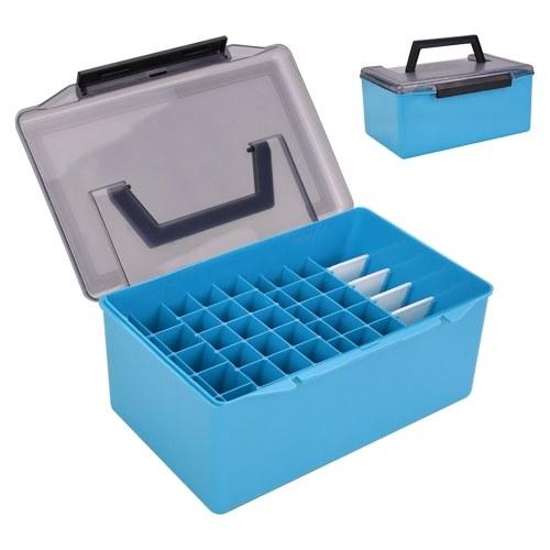 Caixa de equipamento de pesca em PVC para acessórios de pesca, caixa de armazenamento