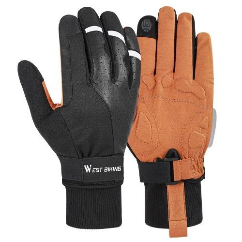 WEST BIKING Велосипедные перчатки Спорт на открытом воздухе MTB Велосипед Мотоциклетные перчатки Нескользящие противоударные перчатки