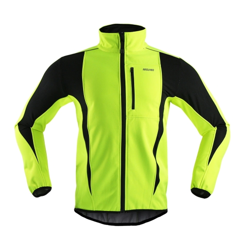 ARSUXEO Winter Cycling Jacket Warm Up Bicycle Clothing Windproof Water-resistant Soft Coat Long Sleeve Cycling Jacket