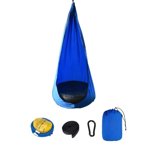 Chaise pour enfants Lit balançoire portatif en tissu de parachute