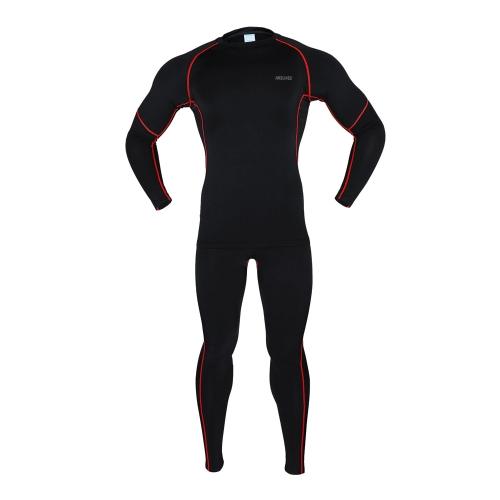 ARSUXEO esercizio compressione Jersey & collant Quick-dry sottofondi in esecuzione Fitness Bodybuilding uomini vestiti camicia Pant tuta Jersey