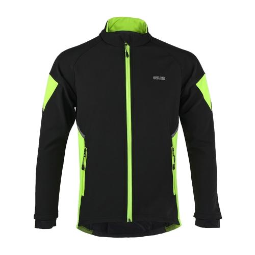 ARSUXEO 熱サイクリング ジャケット冬暖かい自転車長袖ジャケット防風防水コート