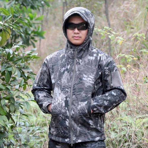 Combattere all'aperto giacca uomo Sport impermeabile caccia vestiti giacca antivento per autunno e inverno