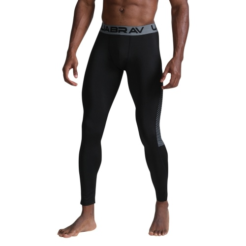 Men Compression Pants Breathable Elastic Quick-dry Running Tights Workout Athletic Sports Leggings
