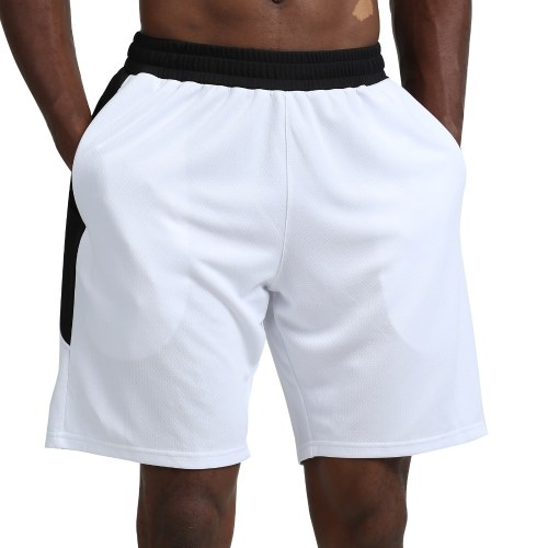 Men Sport Shorts Quick Dry Side Pockets Elastic Waist Short Pants for Workout Basketball Running Casual