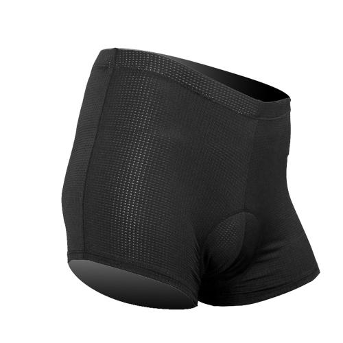 サンティック男性用サイクリング下着ショーツ 通気性のある快適なパッド入りブリーフ  XL