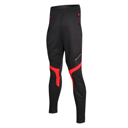 Santic in bicicletta in pile termico antivento pantaloni inverno pantaloni sport pantaloni uomo