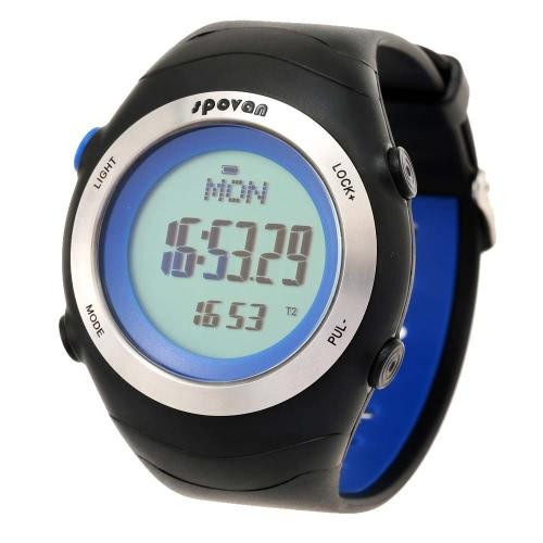 Spovan открытый запуск фитнес пульсометр цифровой наручные часы