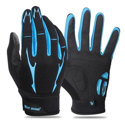 Luvas de mountain bike Luvas de dedo completo para tela sensível ao toque Luvas de ciclismo antiderrapantes Luvas de ciclismo resistentes ao desgaste e respiráveis femininos e masculinos Luvas de gel de palma para mulheres e homens Luvas de absorção de choque para BTT