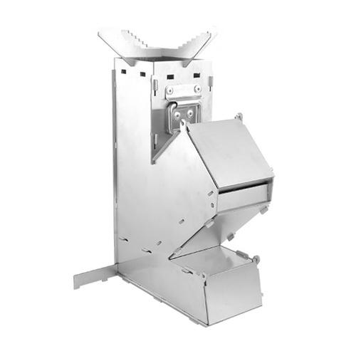 Fogão externo dobrável a lenha Fogão portátil removível de aço inoxidável Fogão para acampamento