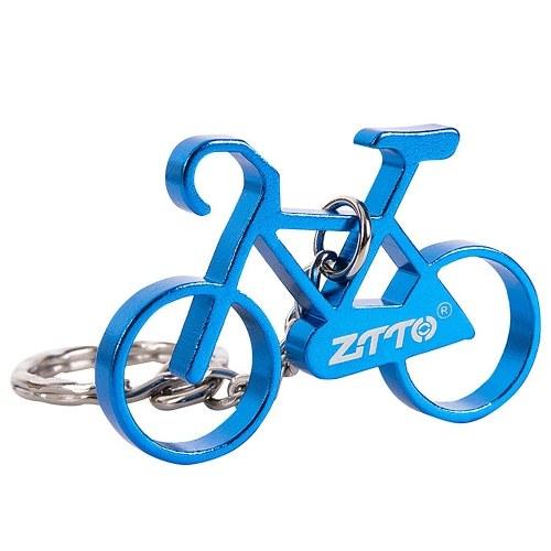 Mini Bike Key Chain Aluminum Alloy Bicycle Keychain Key Chain Ring Image