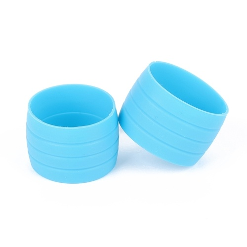 1 Pair of Silicone Plug Road Bike Handlebar Bicycle Handlebar End Bar Tape Fixed Rings Protections Sleeve Cycling Accessories Image