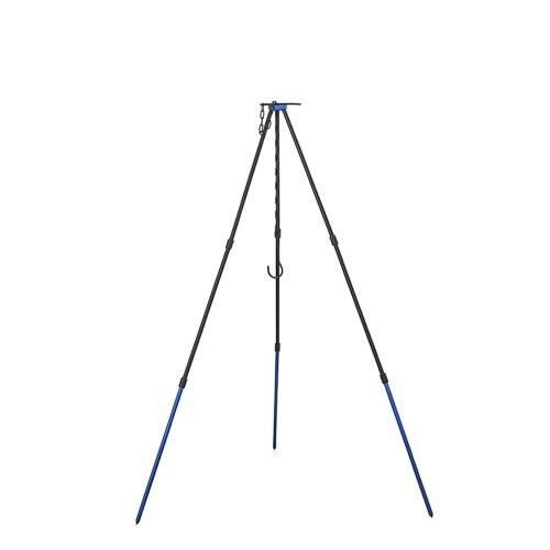 ShineTrip Outdoor Camping Tripod Campfire Aluminium Alloy Tripod Adjustable Triangles Bonfire Stand Tripod for Fire Hanging Pot