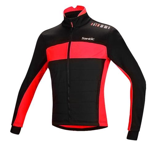 Santic フリース熱冬サイクリング ジャケット綿コート防風服自転車バイク ジャケット