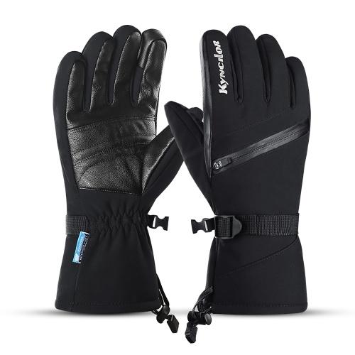Winterwarme Skihandschuhe Fleece Wasserdicht Winddicht Touchscreen Anti-Rutsch-Sport Radfahren Skifahren Fahrrad Outdoor Arbeitshandschuhe
