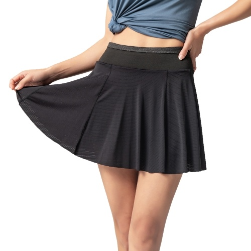 Женская спортивная юбка 2-в-1, шорты, подкладка, быстросохнущие, дышащие, для бега, йоги, спортзала, спортивной одежды