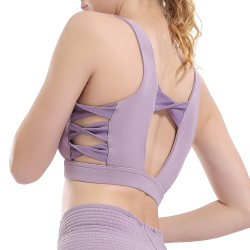 Woman Sports Bra Quick Dry Push-up Shockproof Padded Crop-Top Cute Tank-Top Underwear Yoga Workout Fitness Running