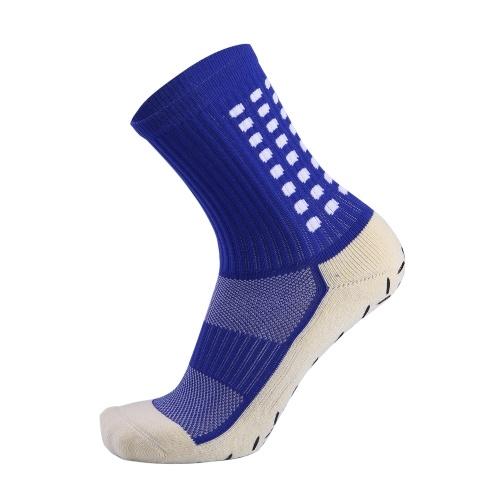 Männer Athletic Socks Anti-Rutsch-Silizium Feuchtigkeitstransportierende atmungsaktive gepunktete Kissensocken Radfahren Laufen Basketball Sportstrümpfe