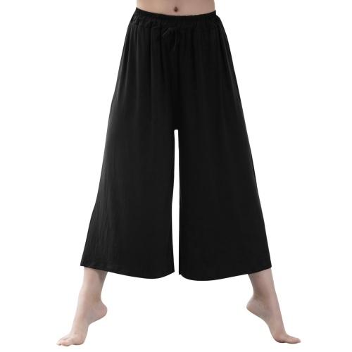 Pantaloni larghi da donna Pantaloni da ballo svasati con coulisse Pantaloni da donna Pantaloni da yoga Spiaggia