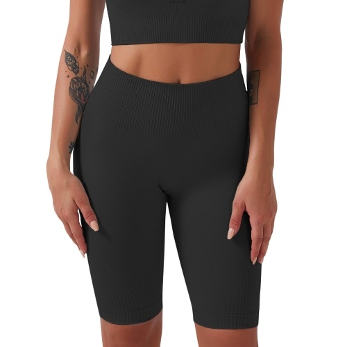 Women Compression Shorts High Waist Tummy Control Breathable Stretchy Workout Running Sports Shorts