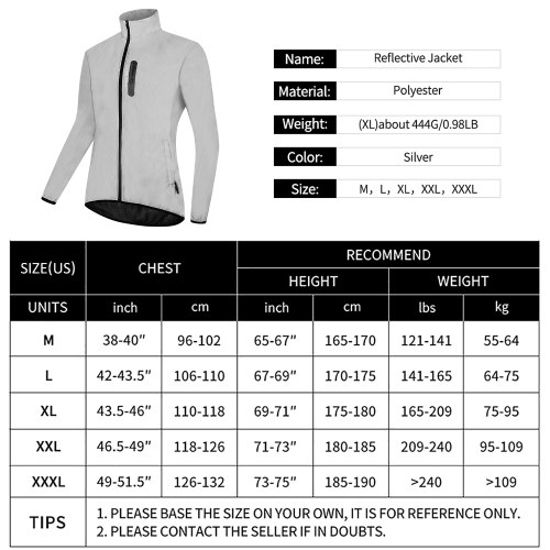 High Visibility Reflective Jacket Coat Waterproof Windproof Outdoor Night Sports Running Cycling Jacket