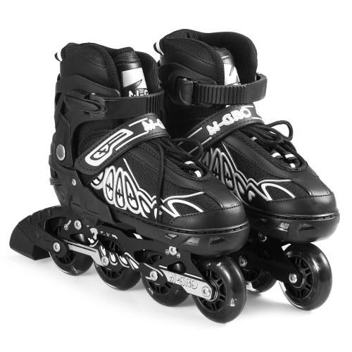 Регулируемые роликовые коньки с подсветкой на колесах Коньки Уличные коньки для детей Мальчики Девочки Дамы