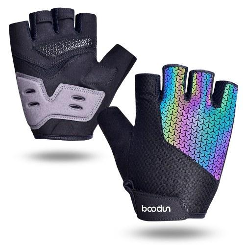 Sporthandschuhe Anti-Rutsch-Radfahren Halbfingerhandschuhe Stoßdämpfend Gepolsterte Gewichtheberhandschuhe Atmungsaktive MTB-Handschuhe für den Außenbereich Fahrradhandschuh