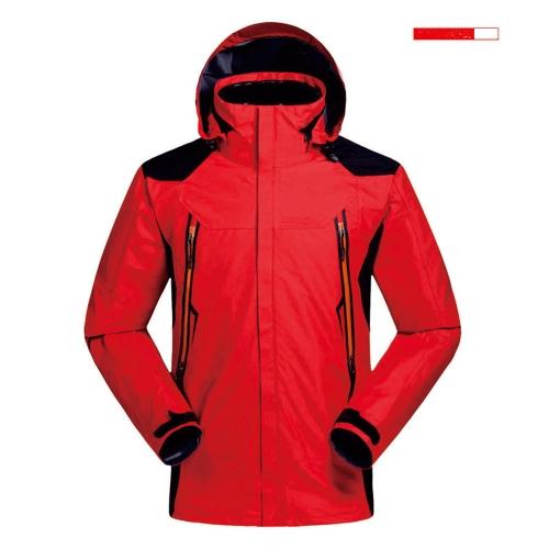 Men's Waterproof 3 in 1 Jacket Down Jacket Outdoor Sports Camping Mountaineering Skiing Coat