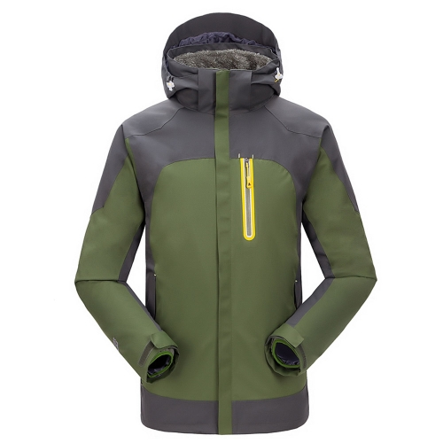 Men's 3 in 1 Water-resistant Windproof Jacket Thermal Fleece Jacket Outdoor Sports Camping Mountaineering Skiing Coat