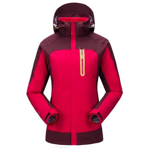 Women's 3 in 1 Water-resistant Windproof Jacket Thermal Fleece Jacket Outdoor Sports Camping Mountaineering Skiing Coat