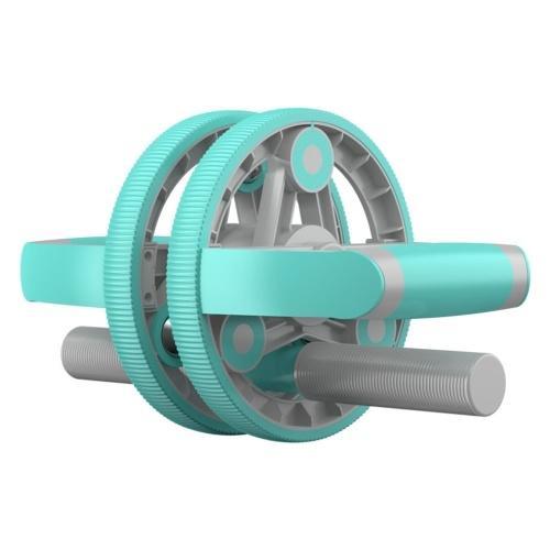 Multifunktionale Abdominal Wheel Roller Tragbares Abdominalgerät Doppelrundes Abdominal Wheel für Männer und Frauen Fitness-Haushaltsgeräte