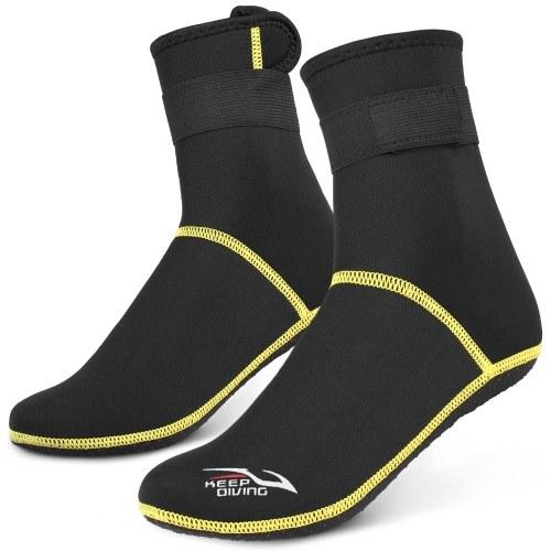 Носки для дайвинга 3 мм неопреновые пляжные носки для воды Термо-гидрокостюм Ботинки Нескользящие носки для дайвинга для рафтинга Снорклинг Парусный спорт Плавание