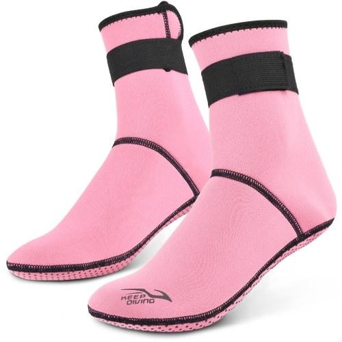 Diving Socks 3mm Neoprene Beach Water Socks Thermal Wetsuit Boots Anti Slip Diving Socks for Rafting Snorkeling Sailing Swimming