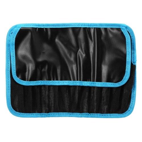 Saco impermeável de PVC para pesca com 12 bolsos Bolsa protetora para iscas Bolsa com tampa de armazenamento Bolsa para iscas de pesca Ferramentas Acessórios Bolsa para organizador de armazenamento