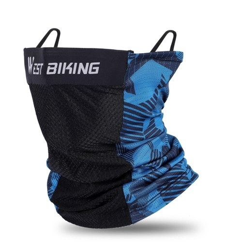 WEST BIKING Summer Ice Silks Riding-Mask Hangings Ear-Mask Breathable Hood Sports Equipment Summer Cycling Sport Scarf Image