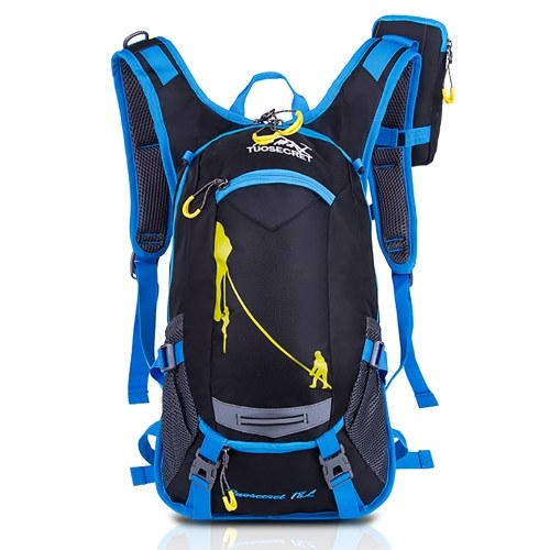Cycling Backpack with Rain Cover Water Resistant Hydration Backpack with Helmet Net for Running Cycling Hiking Biking Camping